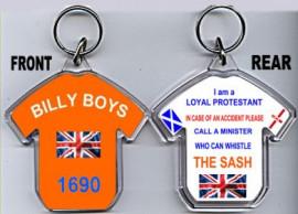 Loyalist T-Shirt Key-Ring/Billy Boys