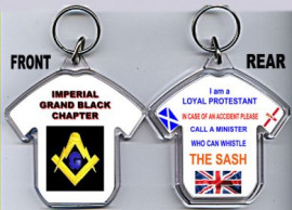 Loyalist T-Shirt Key-Ring/Imperial Grand Black Chapter -Compass & Square