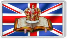 Loyalist Fridge Magnet - BIBLE & CROWN