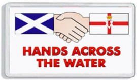 Loyalist Fridge Magnet -  HANDS ACROSS THE WATER