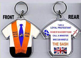 Loyalist T-Shirt Key-Ring/ JUNIOR Orange Collarette