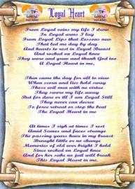 Loyal Heart - Lyric Scroll