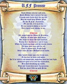 U.F.F  Promise  Lyric Scroll