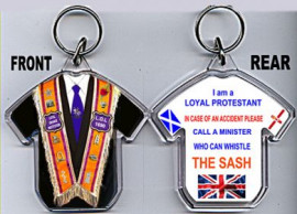 Loyalist T-Shirt Key-Ring/ MALE Orange Collarette