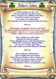 Father's Advice - Lyric Scroll
