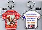 Loyalist T-Shirt Key-Ring/King Billy's On The Wall