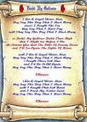 Build My Gallows - Lyric Scroll
